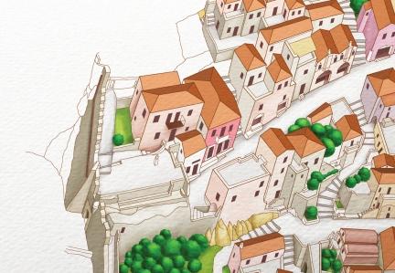 Castle Town of Monemvasia Map